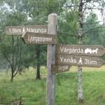Från Yxnås till Ljungås ca. 10 km